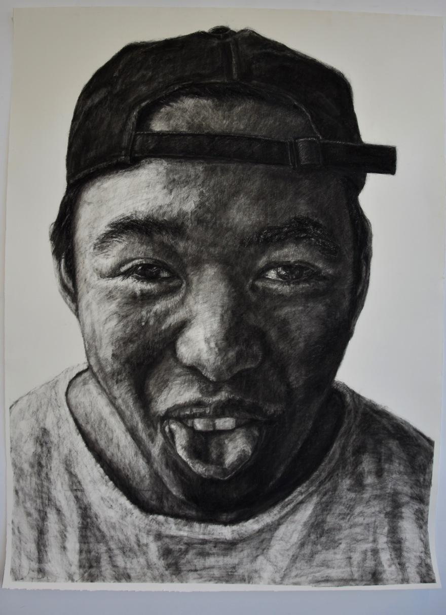 Little Brother Kristone Capistrano art drawing portrait