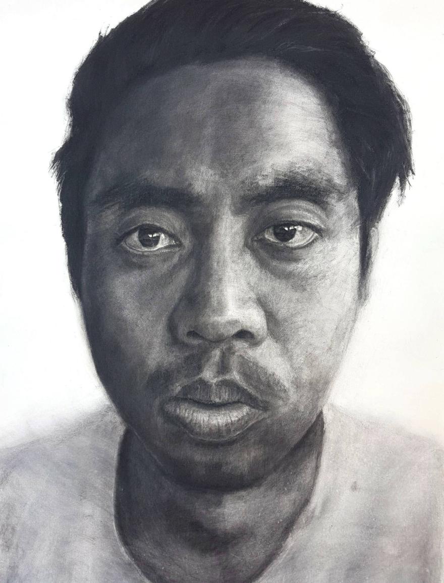 Self-portrait Kritonecapistrano Kristone Drawing Charcoal