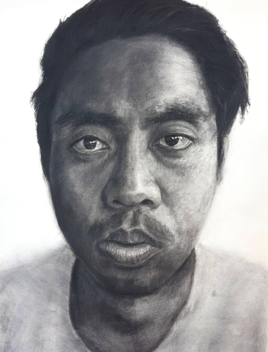 Self-portrait Kritonecapistrano Kristone Drawing Charcoal