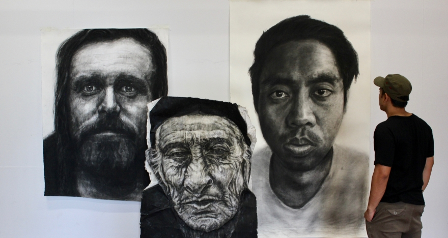 Kristone Capistrano Portraits Drawing Charcoal Pastel Expanded