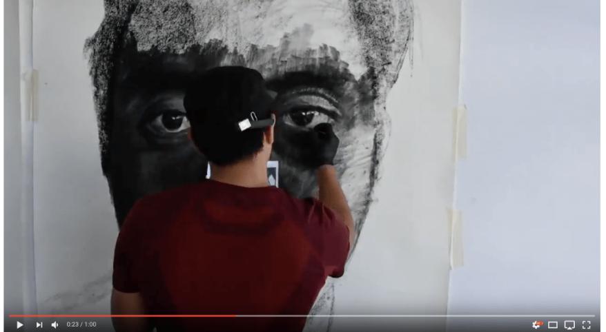 Self-Portrait Drawing Time-lapse Kristone Capistrano Art Drawing