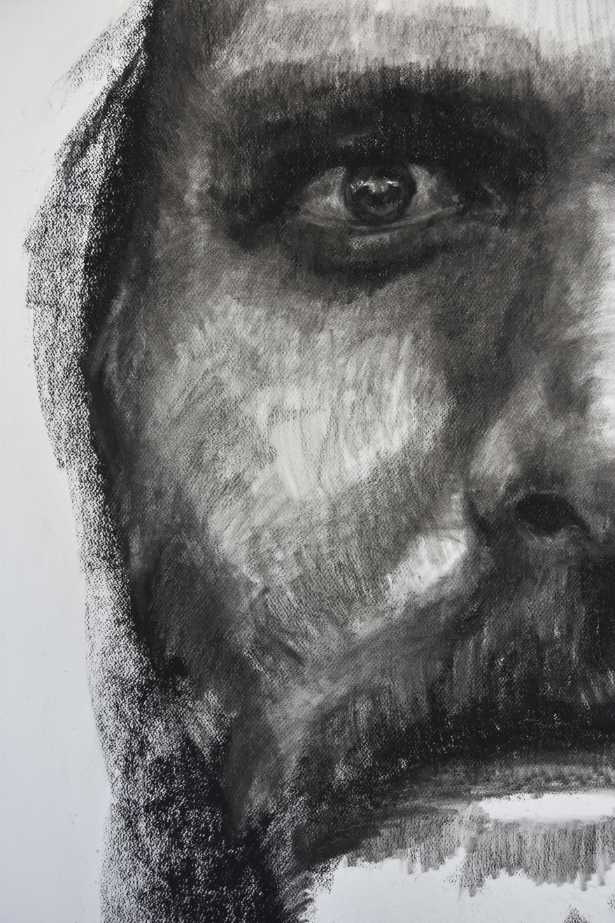 The Bridegroom Drawing Charcoal Portrait