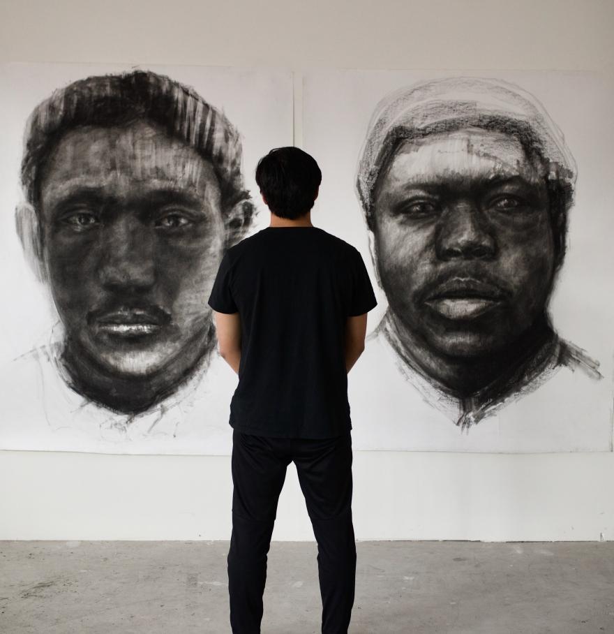Kristone Capistrano Exhibition Melbourne Forgotten Faces Art drawing