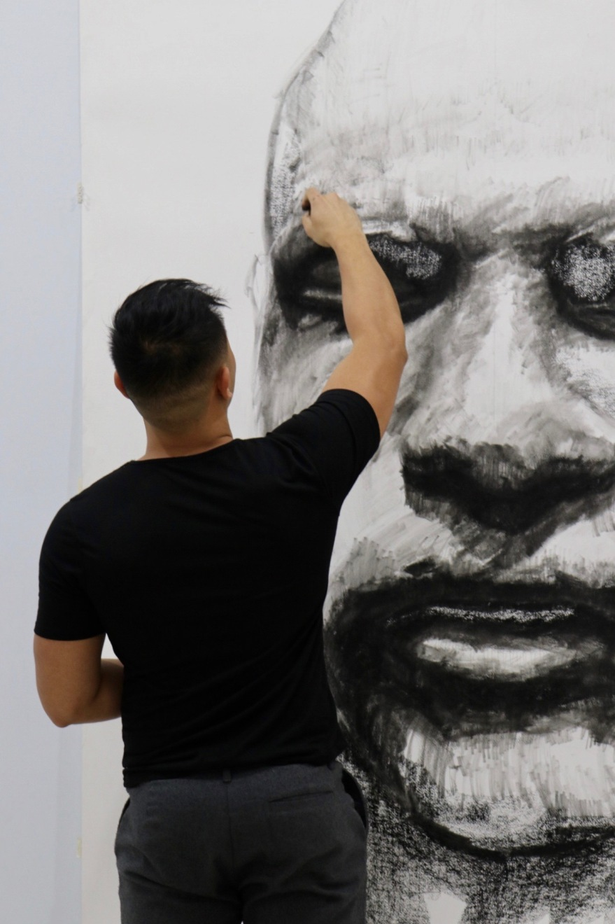 forgotten faces exhibition art kristone capistrano drawing portraits