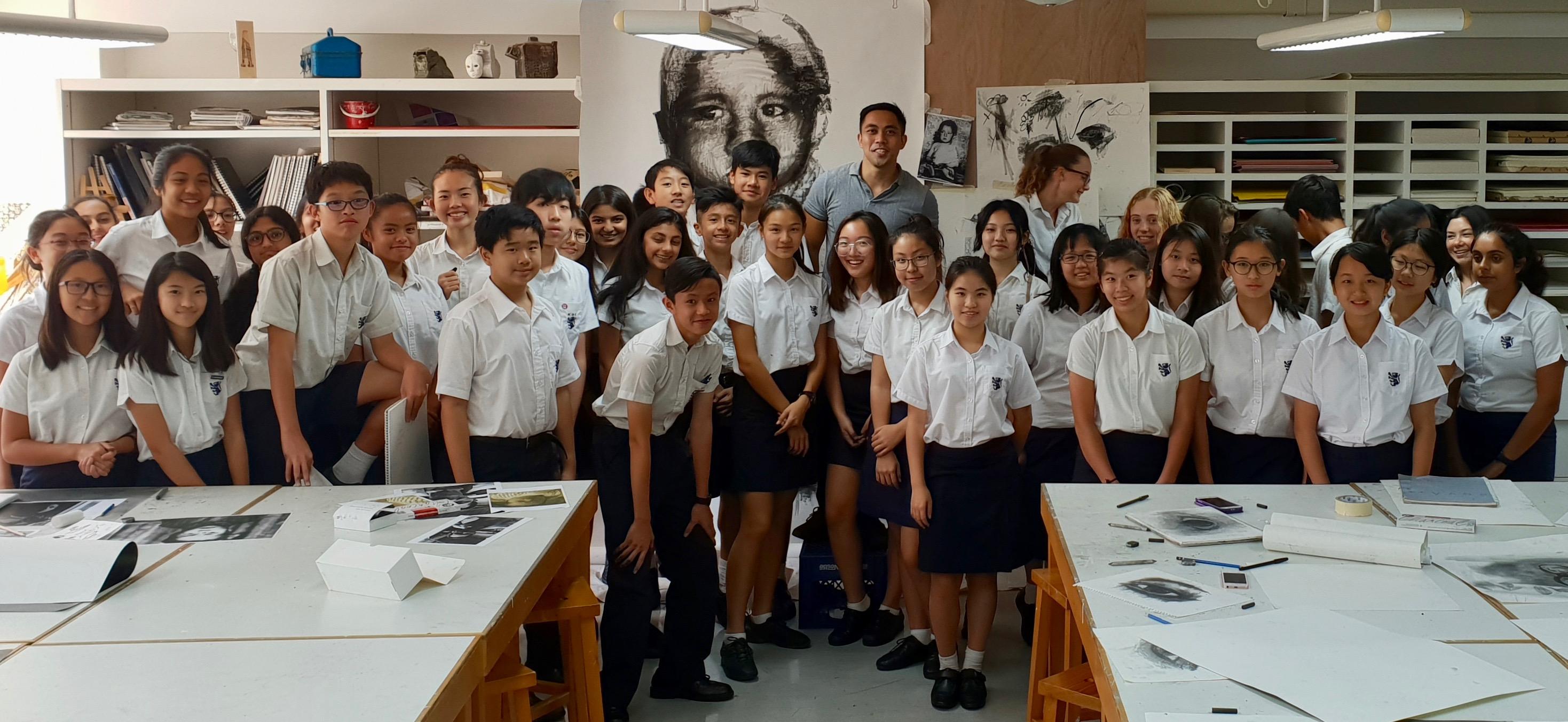 kristone capistrano KGV King George V International School Artist Visit Workshop