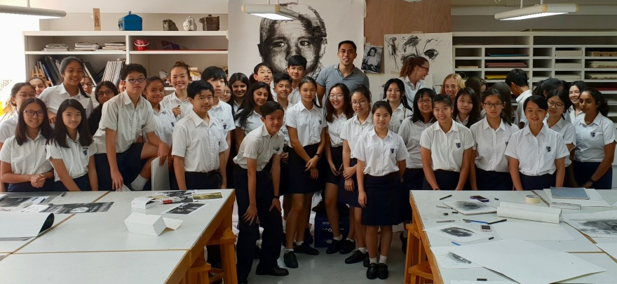kristone capistrano KGV King George V International School Artist Visit Workshop